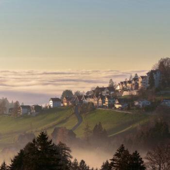 Rehetobel über der Nebelgrenze